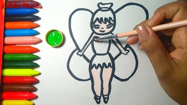 Como Desenhar A Tinkerbell De Forma Fácil