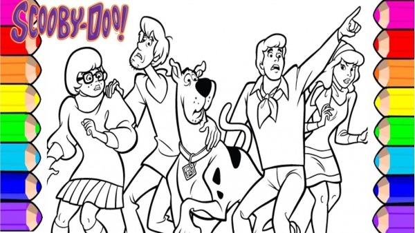 Desenho Para Colorir Do Scooby Doo Pinturas Para CrianÇa Com