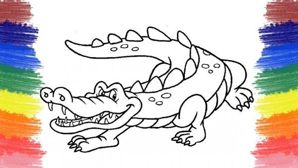Colorir Jacaré Animais Jogos De Pintar Músicas Infantis Cartoons
