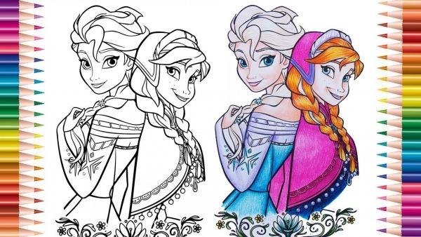 ❄️frozen Desenhos Para Colorir ⛄   Colorindo Desenhos, Livro