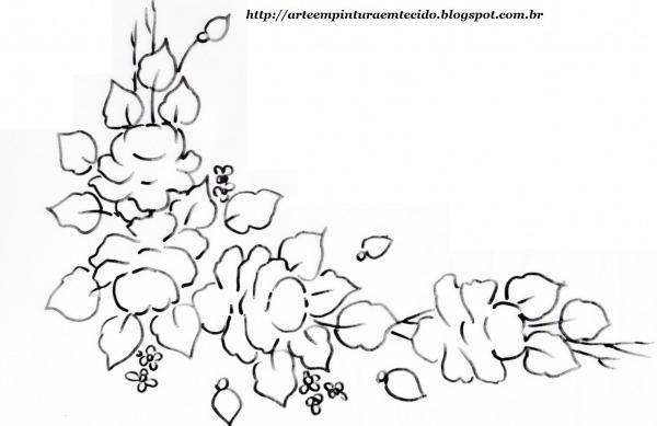 Imagens De Ramos De Flores Para Colorir – Pampekids Net