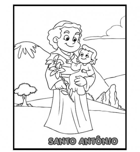 Desenhos De Santo Antonio Para Recortar E Colorir