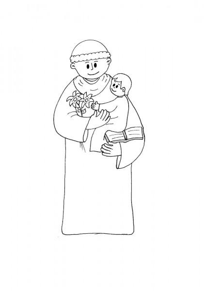 Baú Da Web  Desenhos Do Santo Antonio Para Imprimir E Colorir