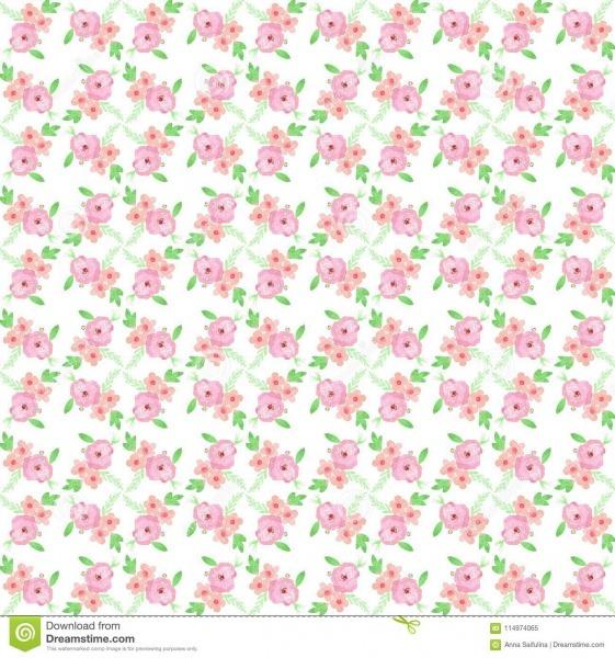 Teste Padrão Floral Sem Emenda Com Rosas Da Aquarela Fundo