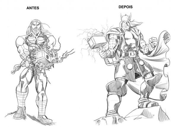 Desenho Do Thor Para Colorir – Pampekids Net
