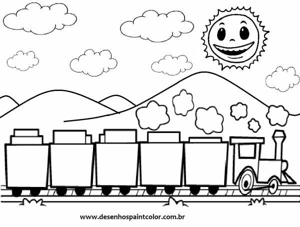 Trem Para Colorir – Free Coloring Pages