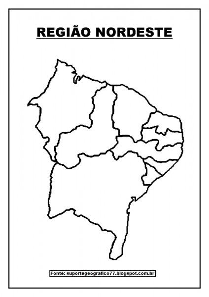Mapas Para Colorir Sobre As RegiÕes Brasileiras