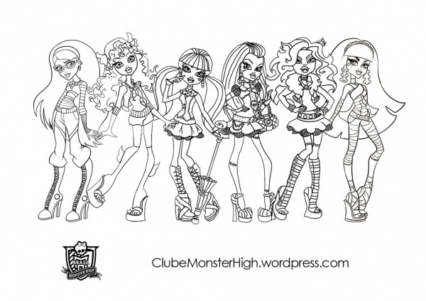 Monster High Para Colorear   Colorear Ploo Fr
