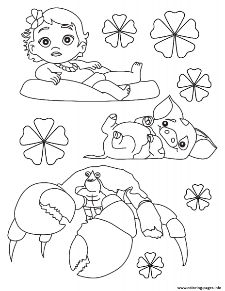 Print Moana Baby Disney Coloring Pages