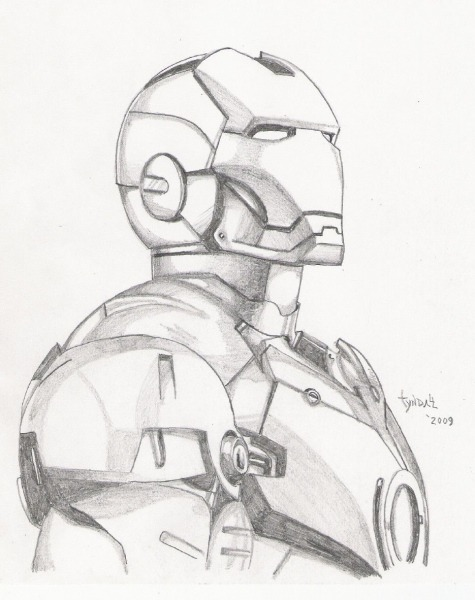 Iron Man Sketch By Tyndallsquest Deviantart Com On @deviantart