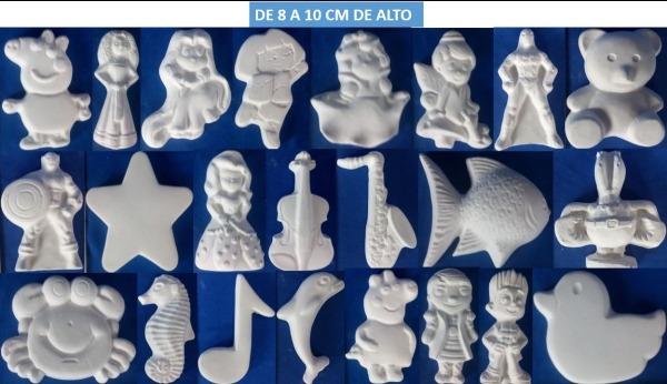 60 Figuras Infantiles De Yeso Para Pintar Por $270
