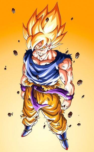 Goku Super Saiyajin Em Namekusei