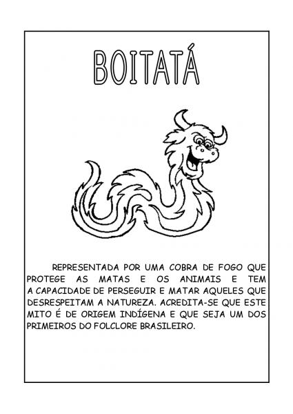 Lendas Brasileiras Para Colorir