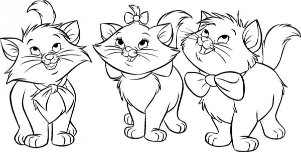 Desenho Da Gatinha Marie Para Colorir