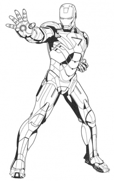 Iron Man Ready Ultimate Weapon Coloring Page