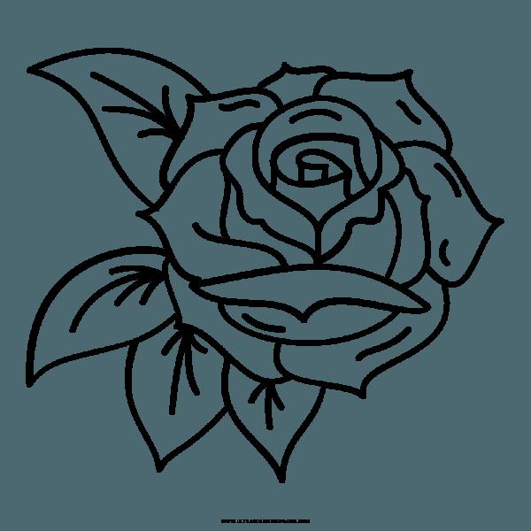 Desenhos Para Colorir De Rosas