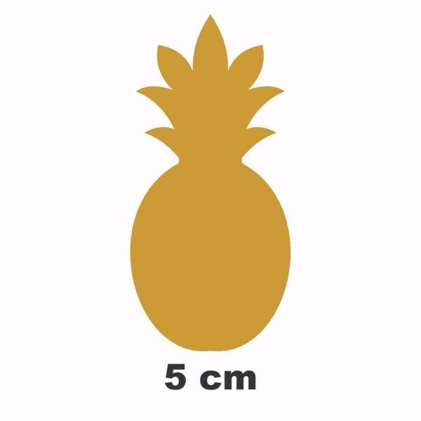 Adesivo De Parede, Abacaxi 5cm 100 Unidades Dourado