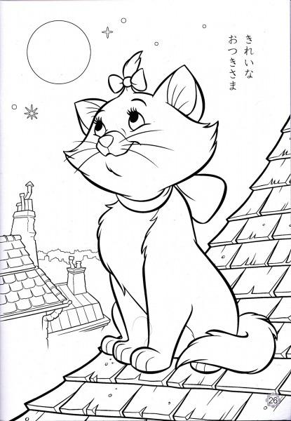 Desenho Da Gatinha Marie Para Colorir – Pampekids Net