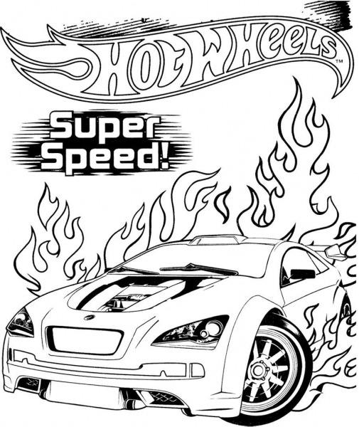 Modelos De Desenhos Do Hot Wheels Para Colorir E Imprimir Grátis