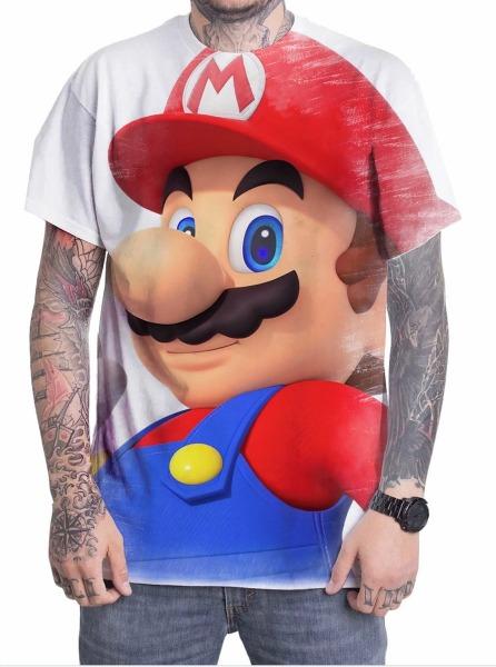 Camiseta Camisa Personalizada Desenho Jogo Super Mario 10 No Elo7