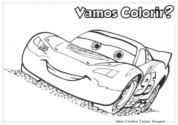 Colorir Relampago Mcqueen Colorir Relampago Mcqueen – Pampekids Net