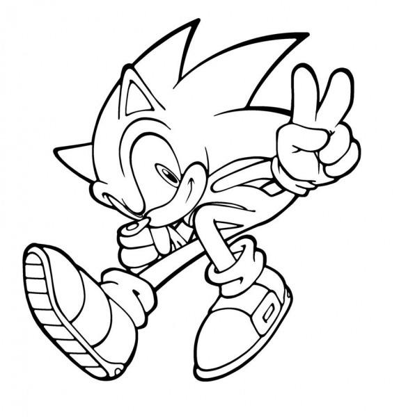 Colorir Sonic X – Pampekids Net