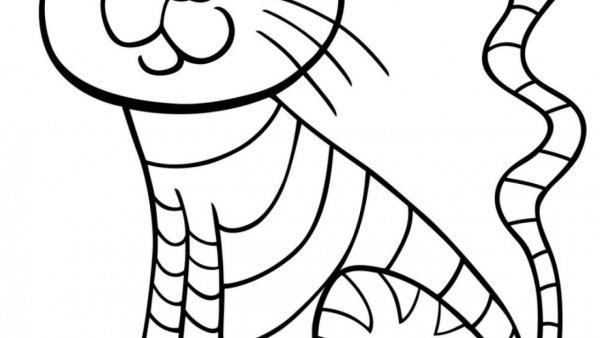 Desenho De Gatos Para Pintar