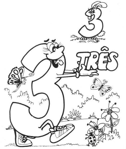 Desenho Para Colorir Números De 0 A 9 Lindos Para Imprimir E