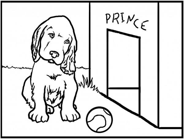 Desenho Para Pintar De Um Cão    Fotos E Imagens
