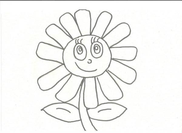 Desenhos Para Colorir  Desenho Para Colorir De Flor Pinte