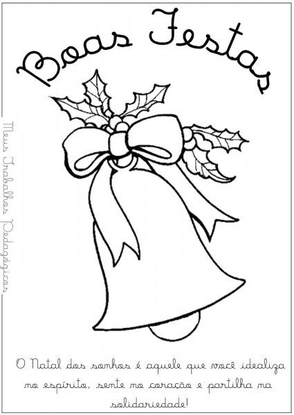 Imagens De Natal Para Colorir Com Mensagens
