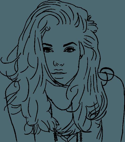 Desenho Da Jolie Para Colorir E Imprimir
