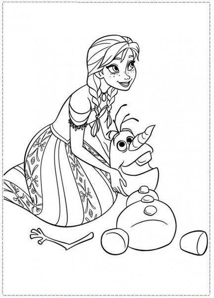 Princesa Frozen Para Colorir – Pampekids Net