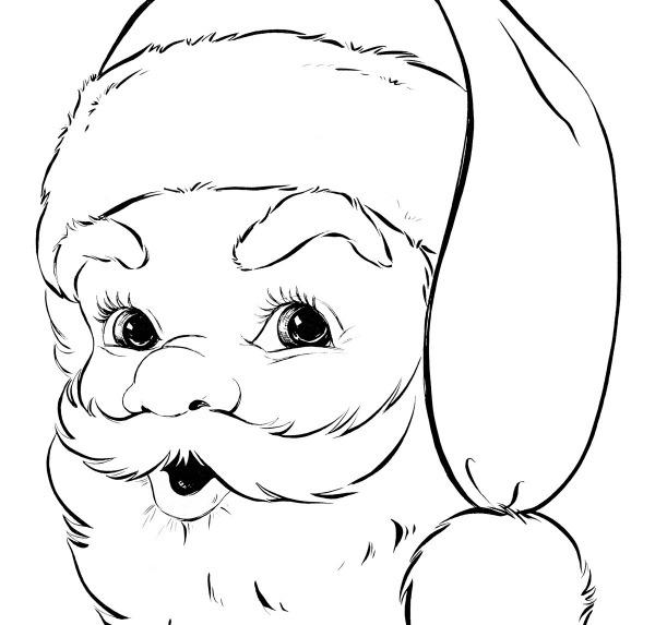 Desenhos Para Pintar Do Pai Natal  Desenhoswiki Com