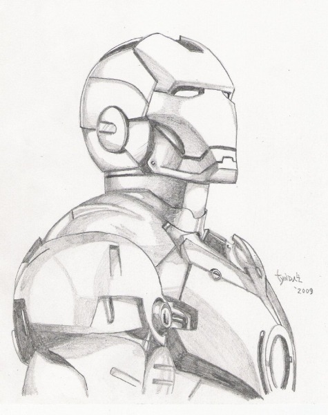 Iron Man Sketch By Tyndallsquest
