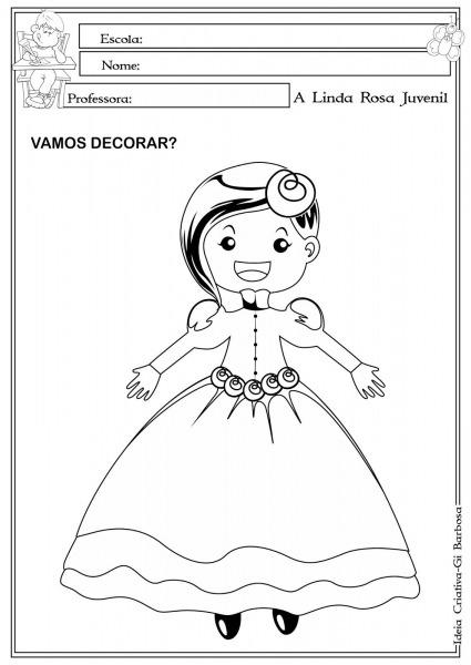Desenho Da Linda Rosa Juvenil Para Colorir