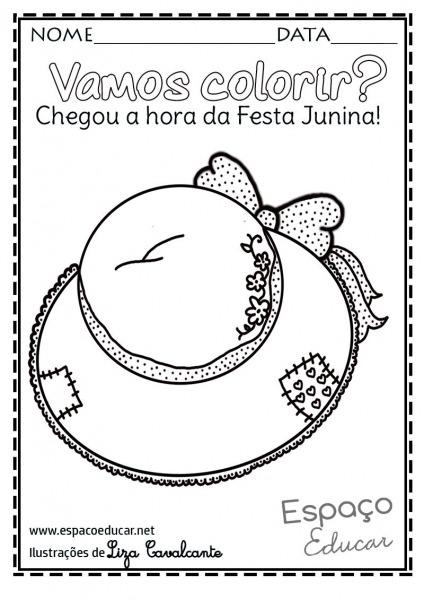 Lindos E Inéditos Desenhos De Festa Junina Para Colorir, Pintar