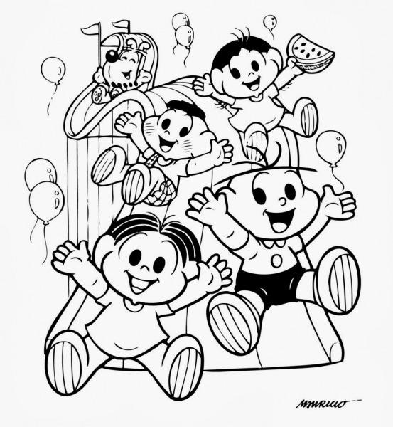 Feliz Dia Das Criancas Pintar E Colorir