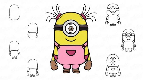 Como Desenhar Um Minion Com Um Olho Passo A Passo Com Um Simples Lápis