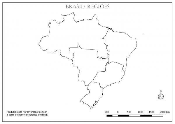 Mapa Brasil Regiões – Nerd Professor
