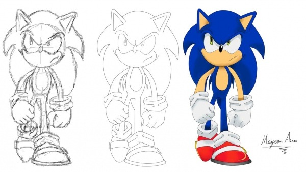 Desenhando O Sonic X (speed Drawing)