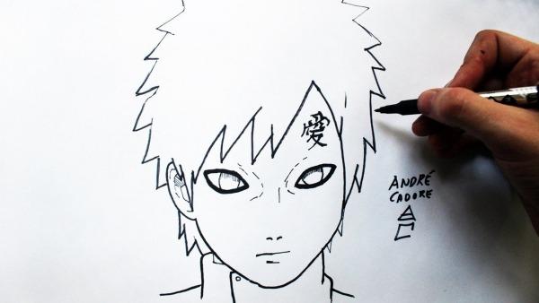 Como Desenhar O Gaara [naruto Shippuden]