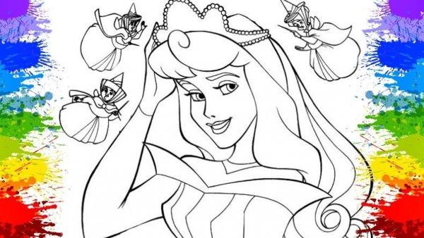 Pinturas Desenho De Criança Vestido De Princesas Disney Aurora