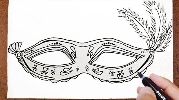 Como Desenhar Máscara De Carnaval 🎭