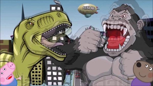 Dinossauro  Desenho Infantil Luta De Dinossauro Godzilla Do George