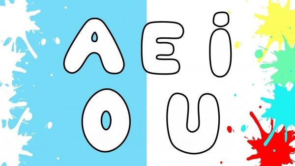 Desenhando E Colorindo As Vogais Do Alfabeto