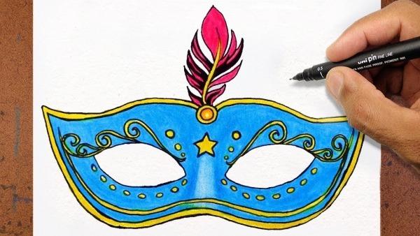 Como Desenhar Uma Mascara De Carnaval