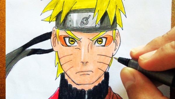 Como Desenhar O Naruto Shippuden Modo Sábio, How To Draw