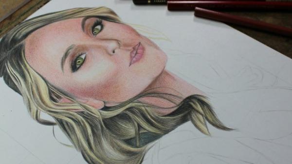 Como Desenhar Larissa Manoela ( Em Tempo Real ) Atevaldo Novais
