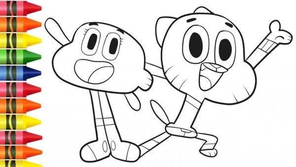 Colorir Desenhos Do Gumball E Darwin Do Cartoon Network